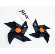 Orange Vinyl Windmills