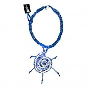 White - Blue Spiral Necklace