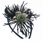 Retro Thorn Blossom Mini Top Hat With Headband