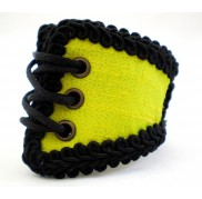 CITRON YELLOW CORSET WRISTBAND