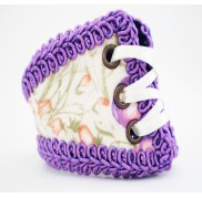 Floral Purple Corset Wristband