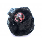 Black Rose Blossom Ring