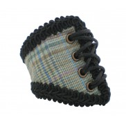 Retro Plaid Corset Wristband