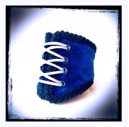 Royal Blue Velvet Corset Wristband