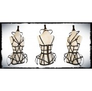 Black Cross Cage Dress