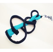 Black - Teal Mono Earring