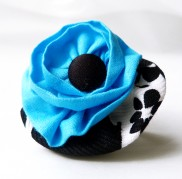 Turquoise - Black Floral Ring
