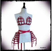 Red Crinoline Set - Double Panniers